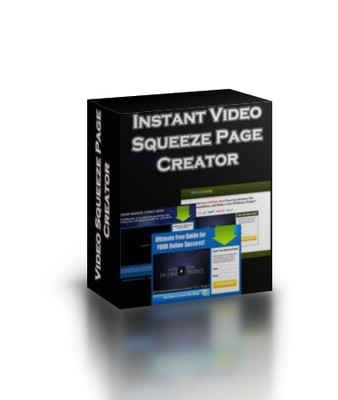 Product picture Instant Video Squeeze Page Creator