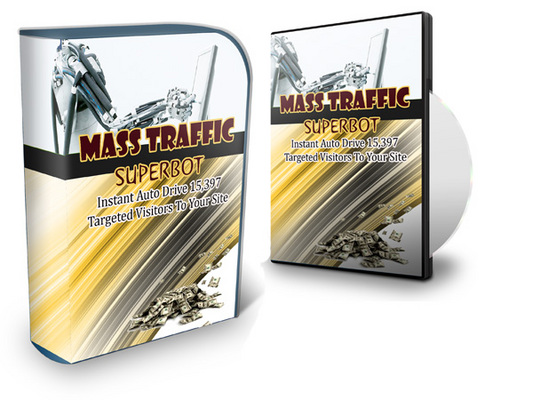 Product picture *New* Mass Traffic Superbot - 5,734 Visitors A Day