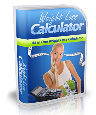 Product picture Weight Loss Calculator, Comes With Master Resale/Giveaway Ri