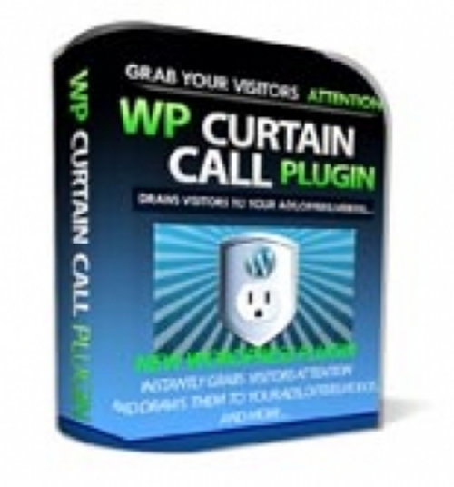 Product picture WP Curtain Call Plugin - Grabs Your Visitors Attention